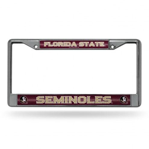 Florida State Seminoles Rico Chrome Glitter License Plate Frame