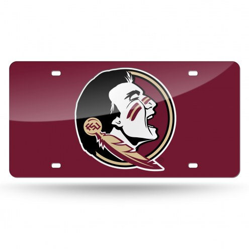 Florida State Seminoles Laser Cut License Plate