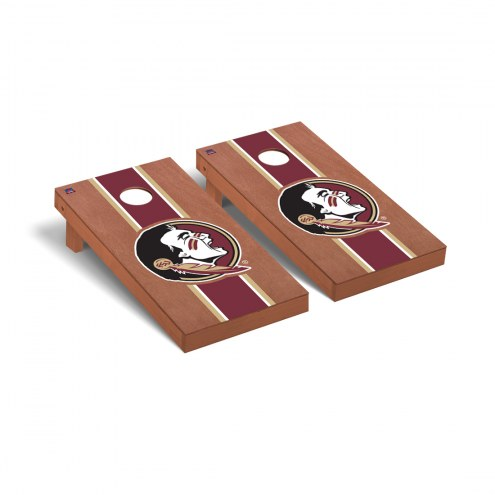 Florida State Seminoles Rosewood Stained Cornhole Game Set