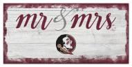 Florida State Seminoles Script Mr. & Mrs. Sign