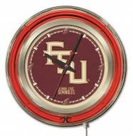 Florida State Seminoles Script Neon Clock