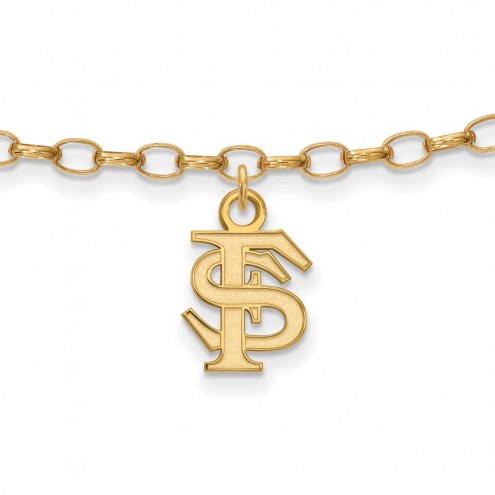 Florida State Seminoles Sterling Silver Anklet