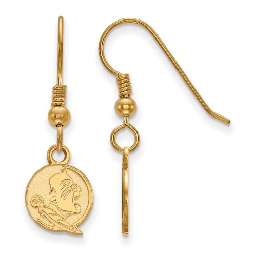 Florida State Seminoles Sterling Silver Gold Plated Extra Small Dangle Earrings