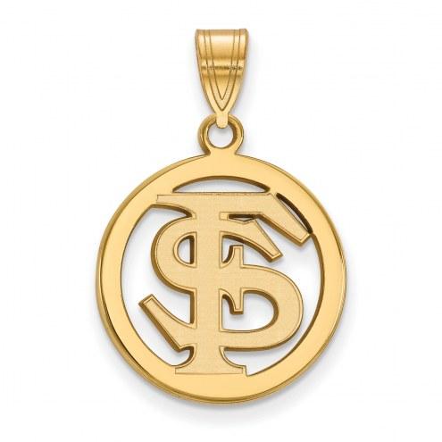 Florida State Seminoles Sterling Silver Gold Plated Medium Pendant