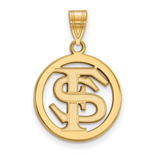 Florida State Seminoles Sterling Silver Gold Plated Medium Pendant