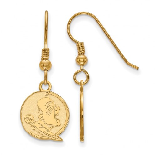 Florida State Seminoles Sterling Silver Gold Plated Small Dangle Earrings