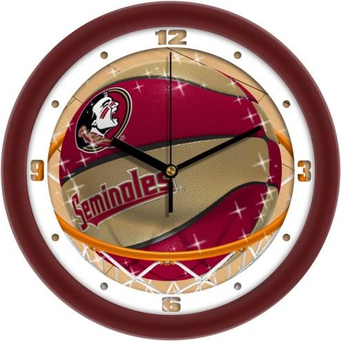 Florida State Seminoles Slam Dunk Wall Clock