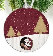 Florida State Seminoles Snow Scene Ornament