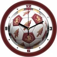 Florida State Seminoles Soccer Wall Clock