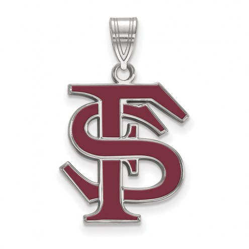Florida State Seminoles Sterling Silver Large Enameled Pendant