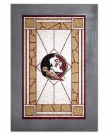 Florida State Seminoles Stained Glass with Frame