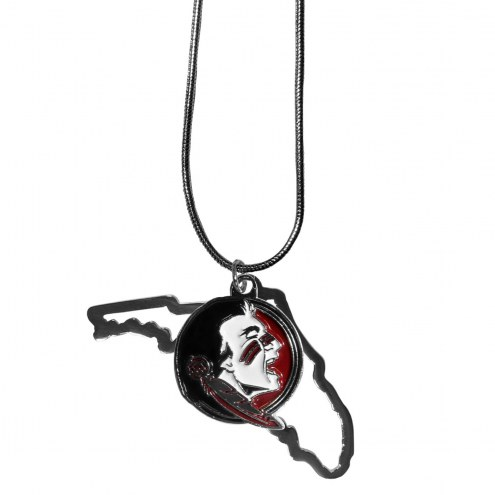 Florida State Seminoles State Charm Necklace