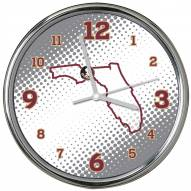 Florida State Seminoles State of Mind Chrome Clock