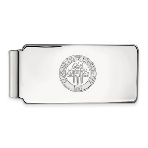 Florida State Seminoles Sterling Silver Crest Money Clip