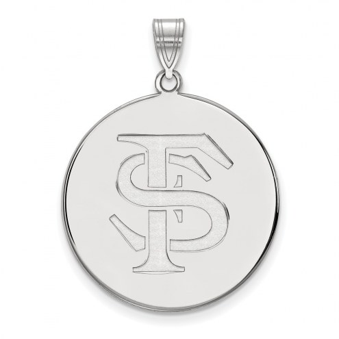 Florida State Seminoles Sterling Silver Extra Large Disc Pendant