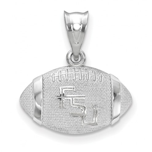 Florida State Seminoles Sterling Silver Football with Logo Pendant