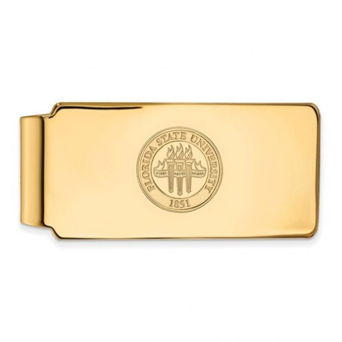 Florida State Seminoles Sterling Silver Gold Plated Crest Money Clip
