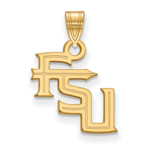 Florida State Seminoles Sterling Silver Gold Plated Small Pendant