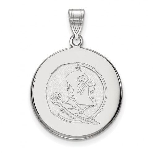 Florida State Seminoles Sterling Silver Large Disc Pendant