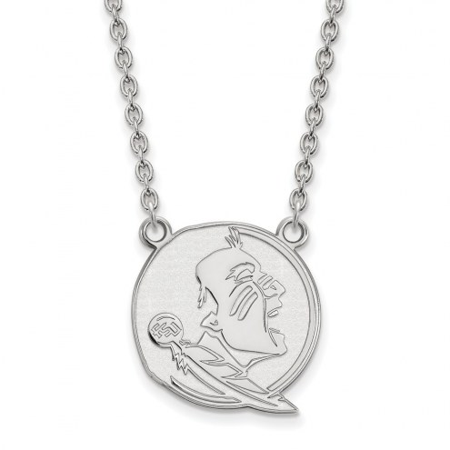 Florida State Seminoles Sterling Silver Large Pendant Necklace