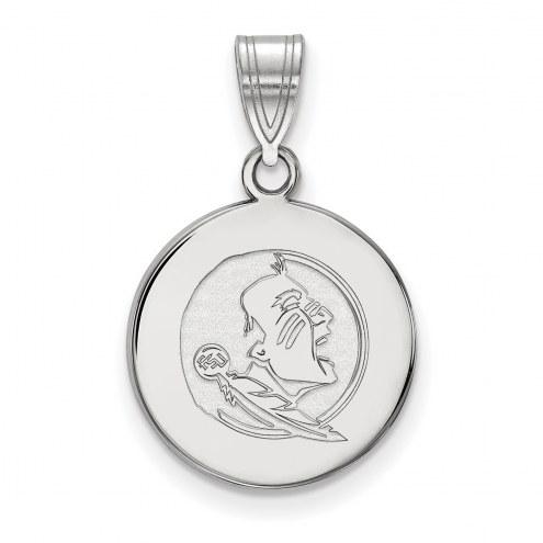 Florida State Seminoles Sterling Silver Medium Disc Pendant