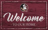 Florida State Seminoles Team Color Welcome Sign