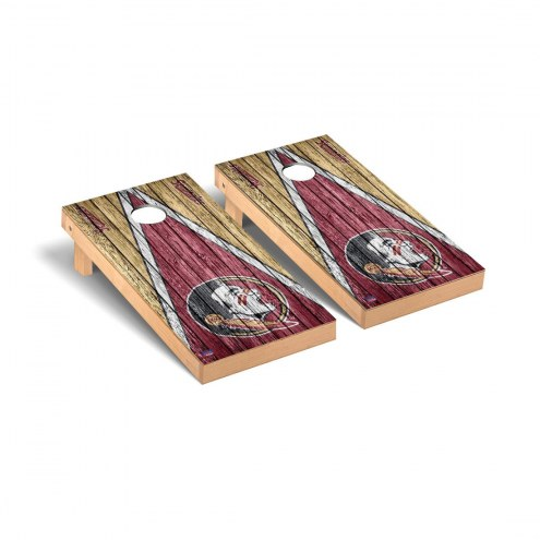 Florida State Seminoles Triangle Weathered Cornhole Game Set