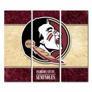 Florida State Seminoles Triptych Double Border Canvas Wall Art
