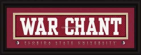 "Florida State Seminoles ""War Chant"" Stitched Jersey Framed Print"
