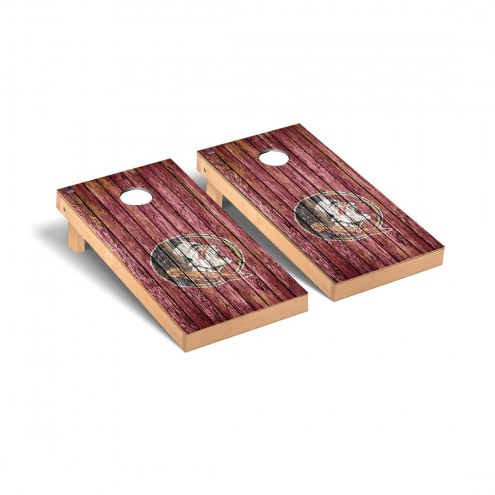 Florida State Seminoles Weathered Cornhole Game Set