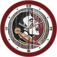 Florida State Seminoles Weathered Wall Clock