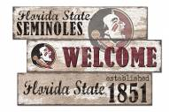 Florida State Seminoles Welcome 3 Plank Sign