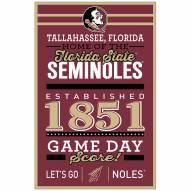 Florida State Seminoles Established Wood Sign