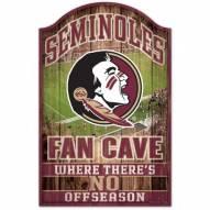 Florida State Seminoles Fan Cave Wood Sign