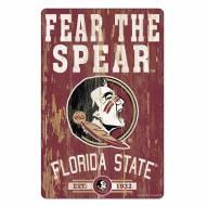 Florida State Seminoles Slogan Wood Sign