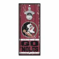 Florida State Seminoles Wood Bottle Opener
