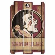 Florida State Seminoles Wood Fence Sign