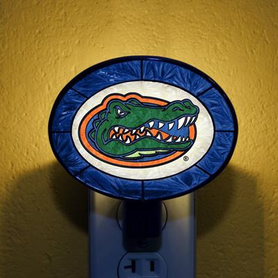 Florida Gators NCAA Stained Glass Night Light