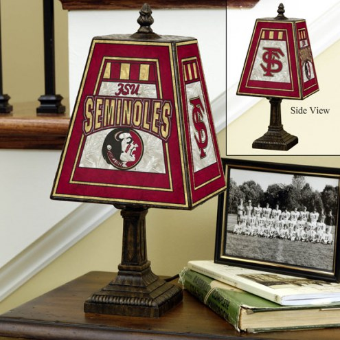 Florida State Seminoles NCAA Hand-Painted Art Glass Table Lamp