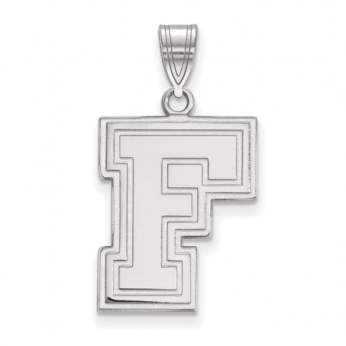 Fordham Rams Sterling Silver Large Pendant