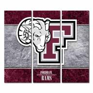Fordham Rams Triptych Double Border Canvas Wall Art