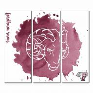Fordham Rams Triptych Watercolor Canvas Wall Art