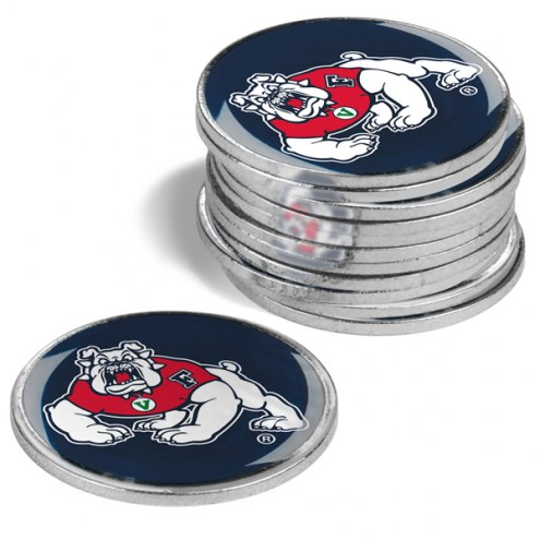 Fresno State Bulldogs 12-Pack Golf Ball Markers