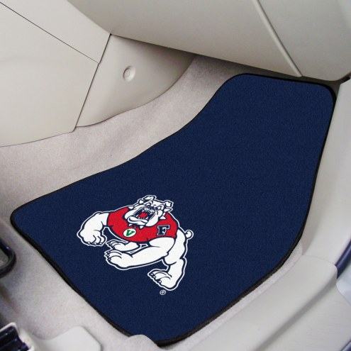 Fresno State Bulldogs 2-Piece Carpet Car Mats