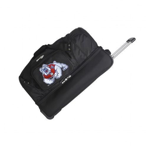 "Fresno State Bulldogs 27"" Drop Bottom Wheeled Duffle Bag"