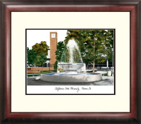 Fresno State Bulldogs Alumnus Framed Lithograph