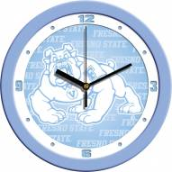 Fresno State Bulldogs Baby Blue Wall Clock