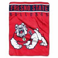 Fresno State Bulldogs Basic Plush Raschel Blanket