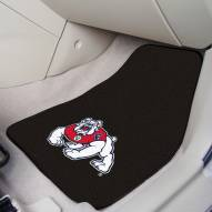 Fresno State Bulldogs Black 2-Piece Carpet Car Mats