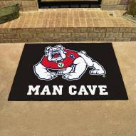 Fresno State Bulldogs Black Man Cave All-Star Rug